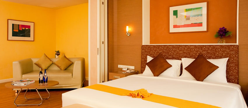 The hotel is decorated in a modern contemporary style and offers 24-hour free wifi and taxi service.